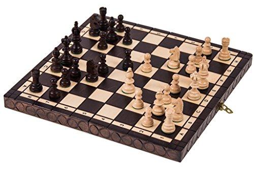 Schach-Schachspiel-OLYMPIA-35-x-35-cm-Schachfiguren-Schachbrett-aus-Holz