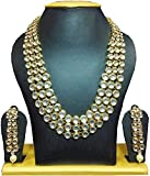 Karatcart Anushka Sharma Bollywood Inspired Traditional Kundan Pearl Necklace Set for Women