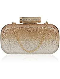 Kleio Bling Shiny Party Box Clutch for Women/Girls