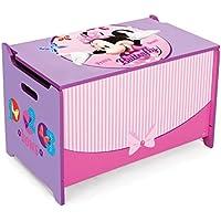 Disney Minnie Mouse Toy Box Caja para juguetes Madera baúl juguete juguete caja baúl nuevo