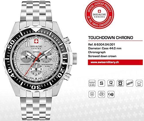 SWISS MILITARY-HANOWA Herren Analog Quarz Uhr mit Edelstahl Armband 06-5304.04.001