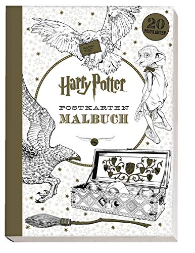 Harry Potter Postkartenmalbuch