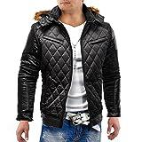 Hommes Veste en cuir dur Hustler motards de ID1174 de cuir doublé
