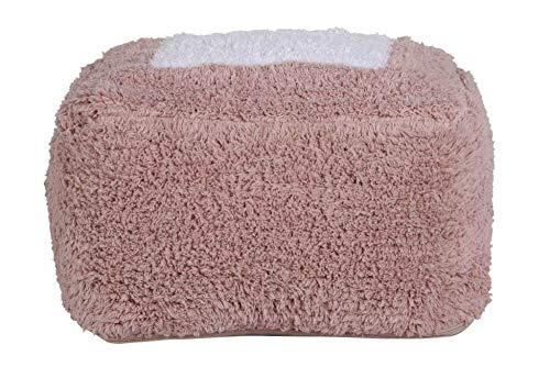 Lorena Canals Puff Marshmallow Square Vintage Nude Vintage Nude, Weiß -100% natürliche Baumwolle/füllung: 100% Polyester - 30x39 cm