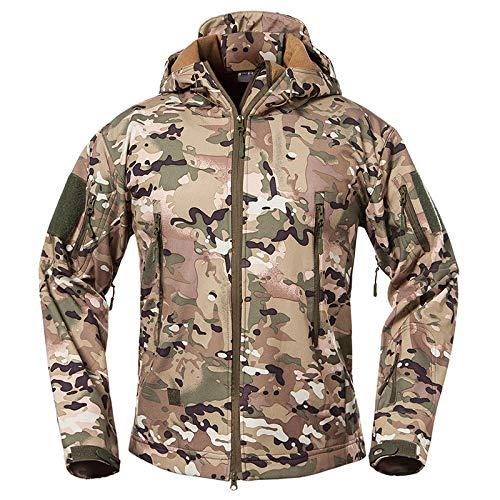 Tarnung Shjzom wasserdichte Army Tactical Jacket Men Camouflage Militärjacke Softshell Windbreaker Hooded Coat Hunt Kleidung CP XS Wool Field Coat