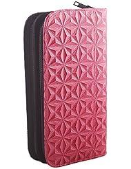 Étui à accessoires pour coiffeur, étui à ciseaux pour barbier, cuir synthétique, pochette : couleur rose