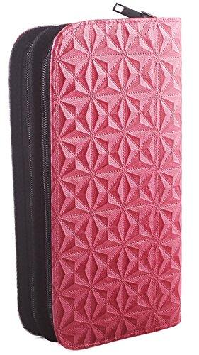 Bolsa para Herramientas de Peluquería, Bolsa de Tijeras para Peluqueros y Barberos, Bolsa de Polipiel, Cuero Sintético - Color Rosa