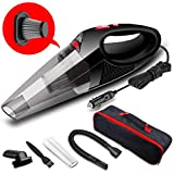 FUJIWAY Car Vacuum Cleaner Portable Handheld Auto Vacuum Cleaner with LED Light DC