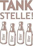 GRAZDesign 620488_30_823 Tattoo Wandaufkleber Wanddekoration für Kühlschrank Spruch Tank Stelle Bier (42x30cm//823 Antique Violet)