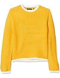 blue seven Mädchen Strickpullover Mit Kontraststreifen suéter para Niñas