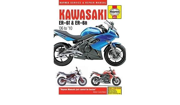 buy kawasaki er 6f er 6n 06 10 haynes motorcycle manuals rh amazon in kawasaki er6n 2013 manual kawasaki er6n 2013 service manual pdf