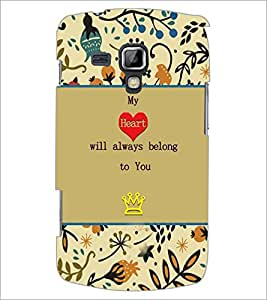 Printdhaba Quote D-3670 Back Case Cover For Samsung Galaxy S Duos 2 S7582