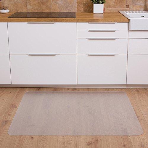 Floordirekt PP - 8 Größen zur Wahl - Budget Bodenschutzmatte semitransparent mit TÜV für Hartböden (90 cm x 120 cm) - 2