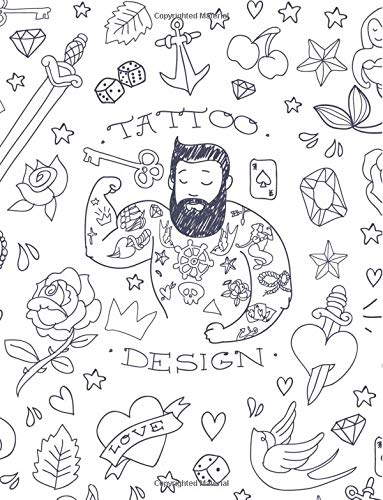 Tattoo Notebook: Cool Journal Book Ruled Lined Page Paper For Kids Girl Women Boy Men Great For Design Writing Artist Gypsy Diary Note Pad Planner ... Bird Composition Book (Large, 8.5 x 11 Inch)