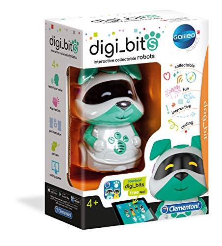 Clementoni digi_Bits Robot Cucciolo Interattivo Multicolore 52420G