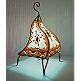 Painted Moroccan Henna Table L&- Square- ORANGE u0026 CREAM 38CM - SUMMER OFFER. by MAISON ANDALUZ  sc 1 st  Amazon UK & Amazon.co.uk: MAISON ANDALUZ: Lighting azcodes.com