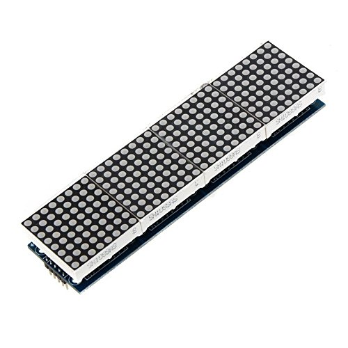 Matrix MCU LED Anzeigemodule DIY Set fuer Arduino 5 PC Verbindungskabel Rot ()
