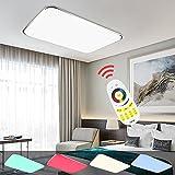 Hengda® LED Deckenleuchte RGB Mit Fernbedienung Lichtfarbe und Helligkeit einstellbar Moderne Esszimmer Deckenbeleuchtung Badezimmer geeignet [Energieklasse A++] (48W RGB)