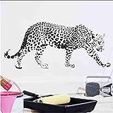 Zlxzlx Leopard Muster Schlafzimmer Vinyl Tapete Diy Wandtattoos Schnee Panther Malerei Wandkunst Schlafzimmer Dekor Wandaufkleber 56 * 130 Cm
