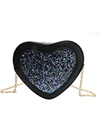 Blingg Shimmery Heart Sling Bag Gift For Women's & Girl's/Fashionable Sling Bag For Women/Women Stylish PU Leather...