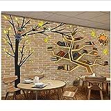 Zxfcccky Tapeten Für Wohnzimmer Baum Bücherregal 3D Wandbilder Tapete Für Wohnzimmer Dekoration Tapete-400X280CM