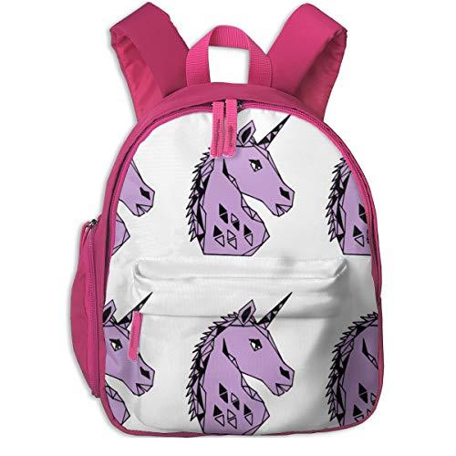 Kinderrucksack mädchen,Einhorn geometrische Geo schneiden und nähen Plüsch Plüschtier lila_4909 - Andrea_Lauren, für Kinderschulen Oxford Tuch (pink)