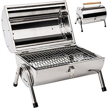 Marko Outdoor BBQ Portable Barrel Barbecue Steel Table Top ...