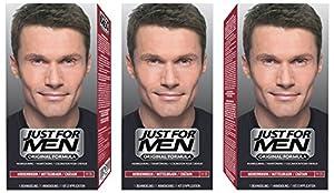 3 x Just For Men Shampoo In Hair Colour - Choose Your Colour-Medium Brown H35