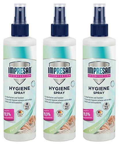 Impresan Hygiene-Spray - Desinfektionsspray - Desinfektionsmittel - Desinfektions-Pumpspray - 3 x...