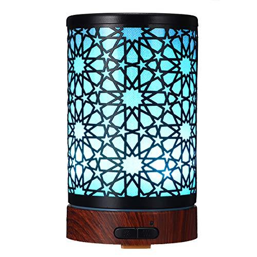 KUNSE 7 LED Farbe Luftbefeuchter ätherisches Öl Diffusor Eisen Kunst Ultraschall Kühlnebel Luftbefeuchter Diffusor