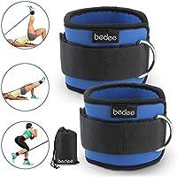 bedee Correas Tobillo Fitness x 2 con Anillo en D Doble, Puños de Tobillo Ajustables para Cadera, Fuerza de la Pierna y Ejercicios de Boxeo de Yoga, ...