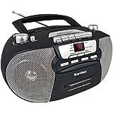 Karcher RR 5040de B Oberon–Radio CD portátil (AM/FM, láser, AUX-IN, red/Pilas), color negro