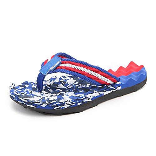 DFUCF Pantofole Uomo Spiaggia Sandali Pantofole Unisex Antiscivolo Vacanza Turismo Mare All'aperto Blu,Blue-43