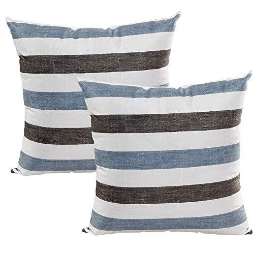 JOTOM Mode Streifen Super Weiche Kissenbezug,Kissenbezüge für Couch Schlafsofa Kissenhülle Dekorative 45X45 cm,2er Set (Streifen 3) -