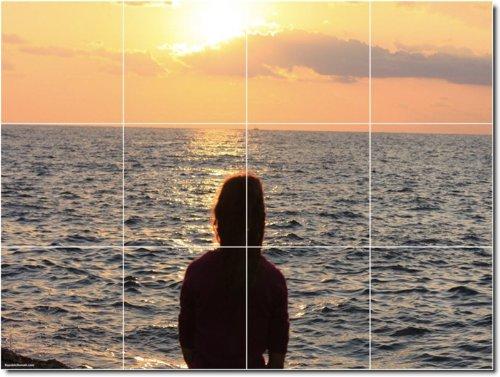 PUESTAS FOTO MURAL AZULEJOS MURAL 24  24X 32CM CON (12) 8X 8AZULEJOS DE CERAMICA