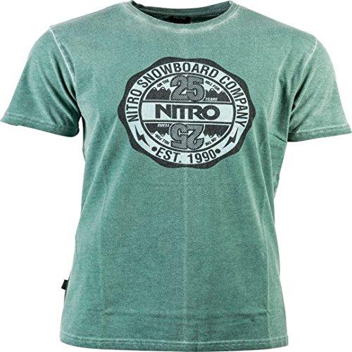 Nitro Snowboards Twentyfive Camiseta, Hombre, Verde, S