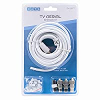 ACERDEALS TV AERIAL COAXIAL CABLE EXTENSION KIT-5M COAXIAL CABLE-3X COAXIAL PLUGS
