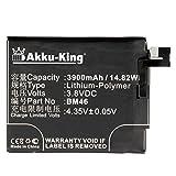 Akku-King Batería para Xiaomi 2015611, 2015617, Note 3, Note 3 Dual SIM - como BM46 - Li-Polymer 3900mAh