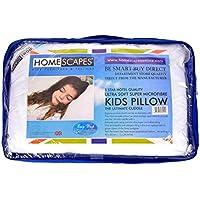 Homescapes - Kids Pillow 40 x 60 cm - Super Microfibre Filling - Washable at Home - Anti Allergen