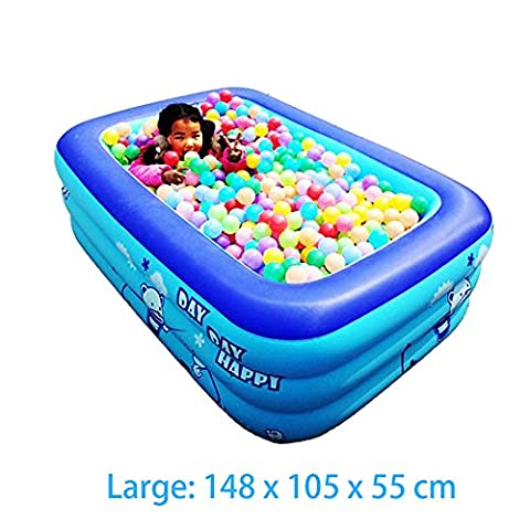 ECOiNVA Hot Tubs Inflatable Hot Bathtub with Electric Air Pump Foldable Durable Adult Baby Hot Bath Tubs (Large, Blue)
