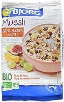 Bjorg Muesli sans sucres Ajoutés Bio 375 g - Lot de 4