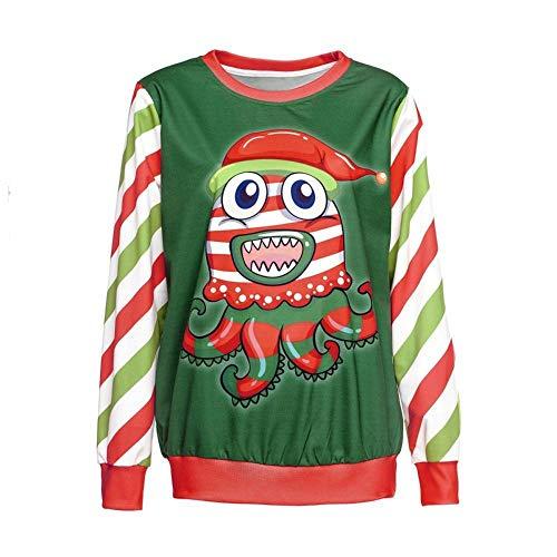 TUWEN WeihnachtskostüM Weihnachten 3D Digital Print Neck (Weihnachten Elfen Kostüme Kinder)