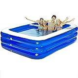 GAOYY Aufblasbarer Pool PVC Übergroßer Familienschwimmbeckenkinderkindermeerkugelball Verdickte Erwachsene Badewanne,Blue-200*160*60