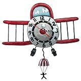 Enesco Allen Designs Flugzeug-Uhr mit Fallschirm