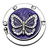 3Stk Silver Purple Butterfly Taschen Tasche Haken Klapp Bügel Für Die Tischseite,Purple