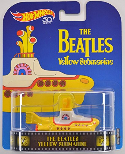 Modelo de Metal Yellow Submarine Submarino Beatles 8cm Original Hot Wheels FLD07
