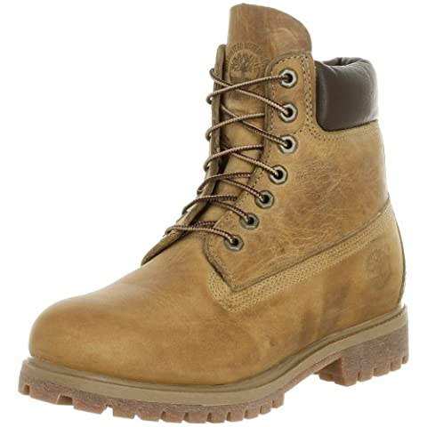 Timberland 6in premium boot, Chaussures montantes homme - Jaune (Wheat Burnished Full Grain), 40 EU (7