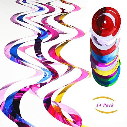 Swirl Party Decorations 14er Pack Spiral Luftschlangen Multicolor Swirl Dekorationen für Geburtstag Hochzeit Party Festival ()