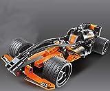 Modbrix Technik Pull Back F1 Racer Bausteine Auto Konstruktionsspielzeug mit 148 Teilen