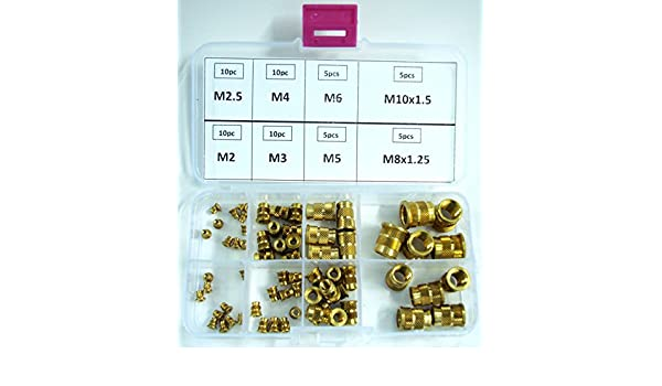 KERB-KONUS Thread Repair Tool Kit Brass Insert W//Collar M2-M10 65 Pcs